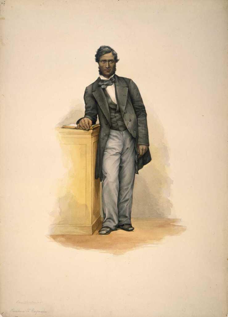 Tamihana Te Rauparaha - G F Angas (1852)