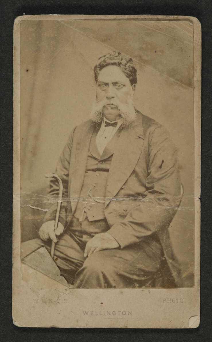 Tamihana Te Rauparaha - W H W Davis - ca 1872